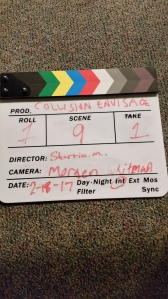 Clapperboard (slate) (photo from author's collection)