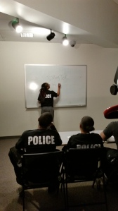 Ladi Richards (at whiteboard) (photo from author's collection)